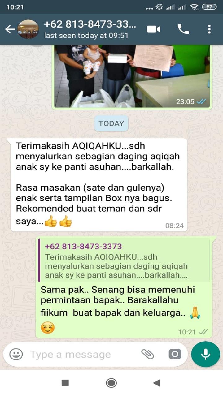 Testimoni Aqiqah Enak di Tangerang