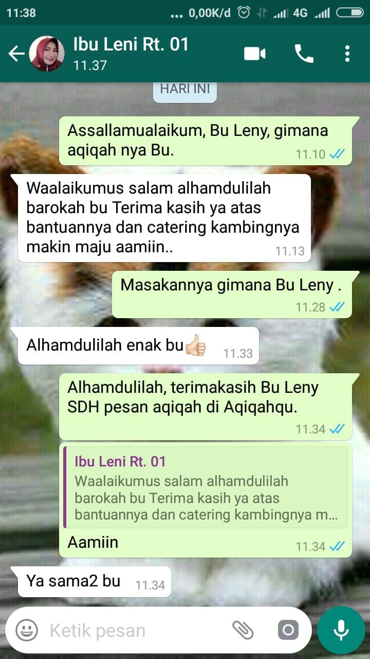 Testimoni Aqiqah Bu Leni RT. 01